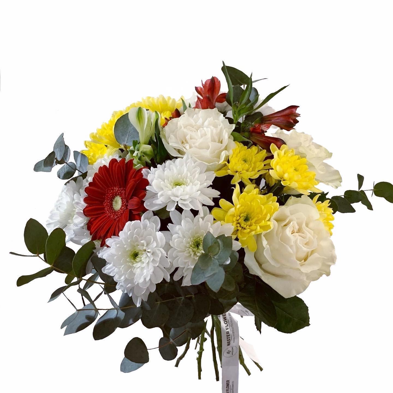 Buchet de flori mare cu crizantema