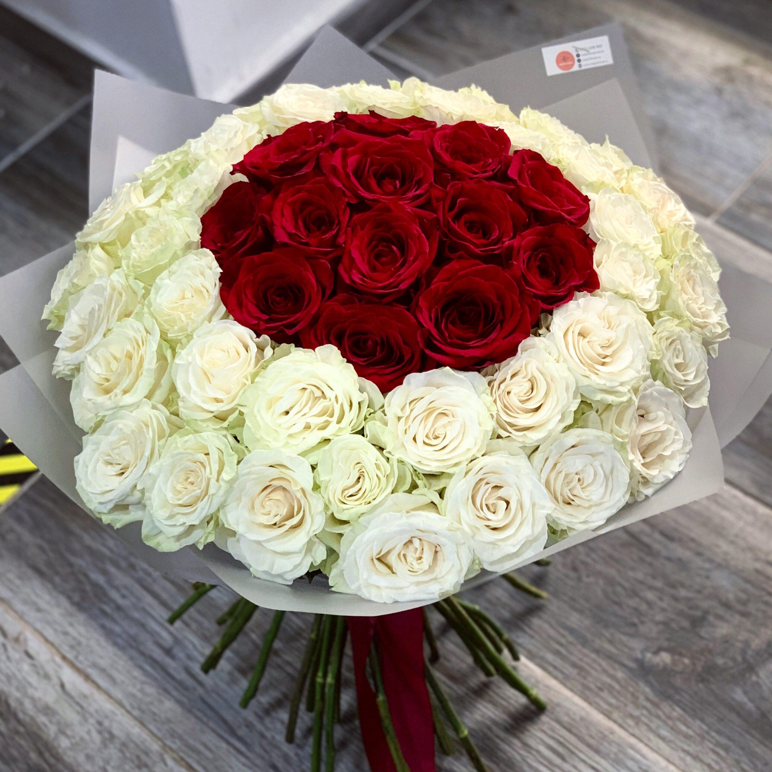 Buchet 53 trandafiri