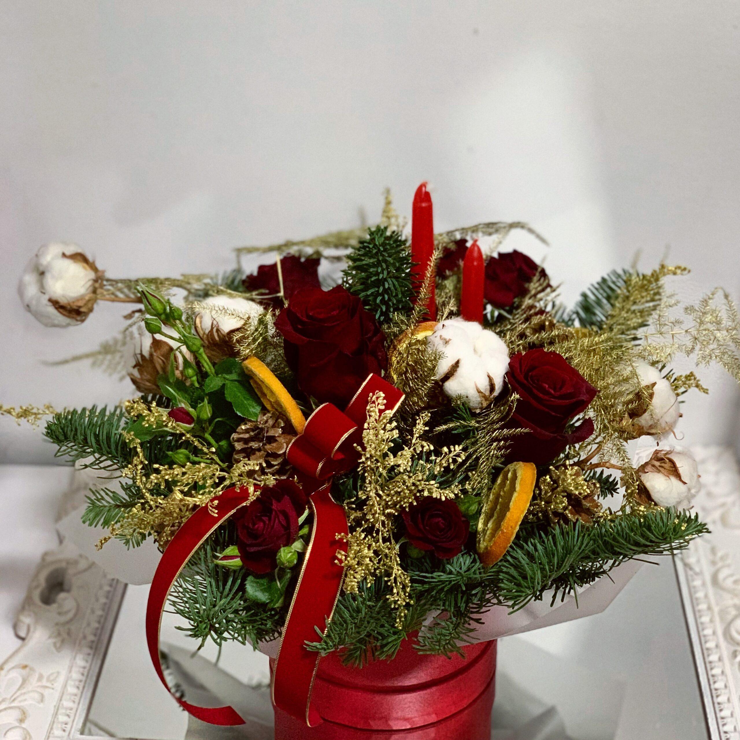 Aranjament floral de Craciun No4